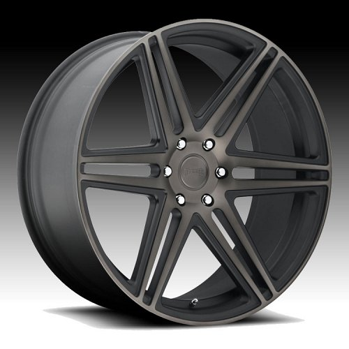 Dub Skillz S123 Machined Black DDT Custom Wheels Rims 1