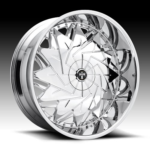 Dub Dazr S235 Chrome Custom Wheels Rims 1