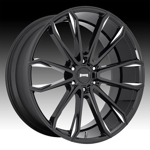 Dub Clout S252 Gloss Black Milled Custom Wheels Rims 1
