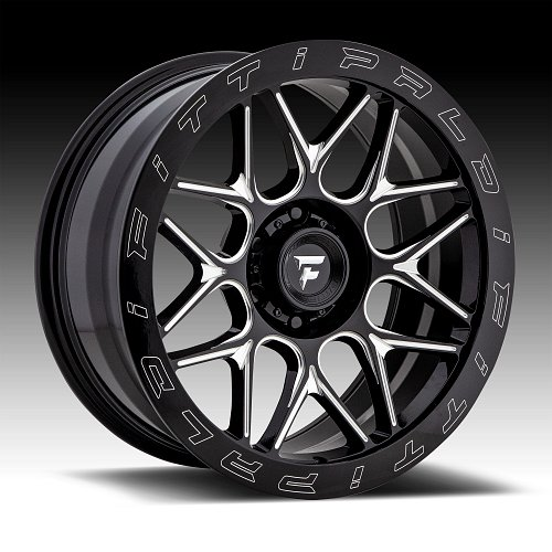 Fittipaldi Offroad Forged FTF02 Gloss Black Milled Custom Wheels Rims 1