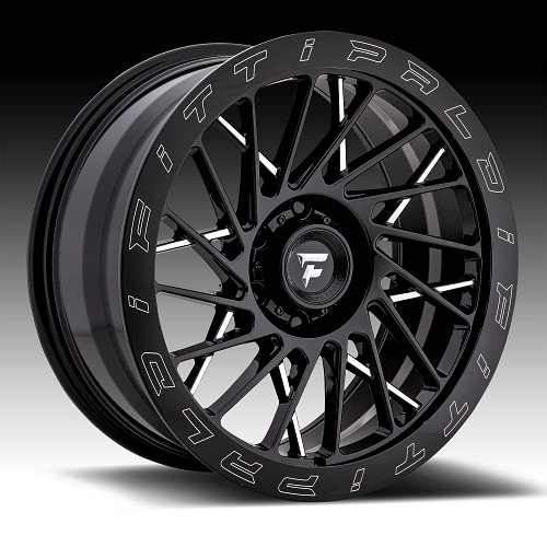 Fittipaldi Offroad Forged FTF03 Gloss Black Milled Custom Wheels Rims 1