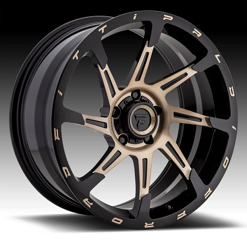 Fittipaldi Offroad Forged FTF06 Brushed Black Bronze Tint Custom Wheels Rims 1