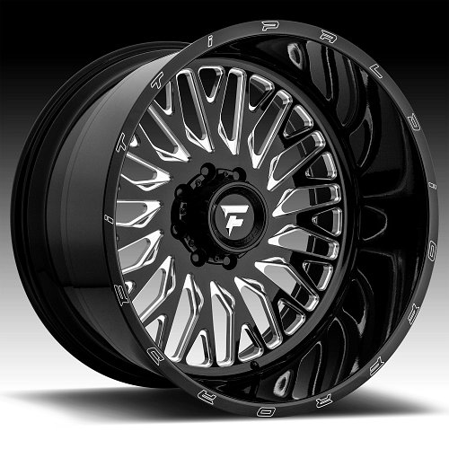Fittipaldi Offroad Forged FTF07 Gloss Black Milled Custom Wheels Rims 1