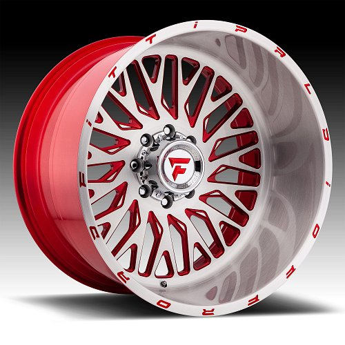 Fittipaldi Offroad Forged FTF07 Brushed Red Tint Custom Wheels Rims 1