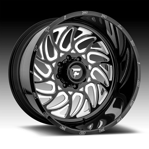Fittipaldi Offroad Forged FTF09 Gloss Black Milled Custom Wheels Rims 1