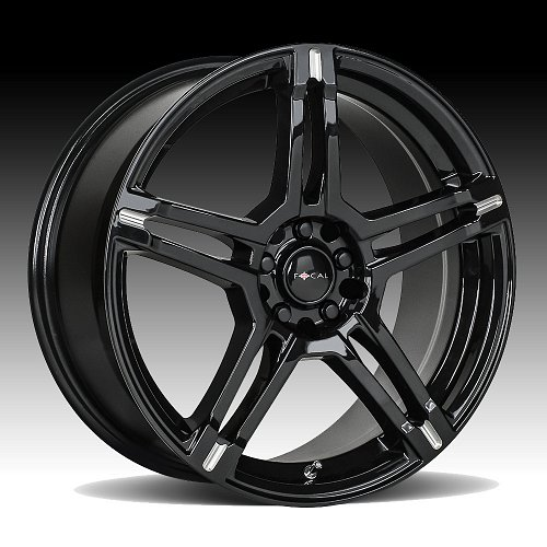 Focal 451BM F-51 Gloss Black Milled Custom Wheels Rims 1