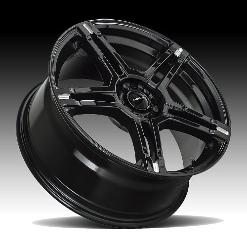 Focal 451BM F-51 Gloss Black Milled Custom Wheels Rims 2