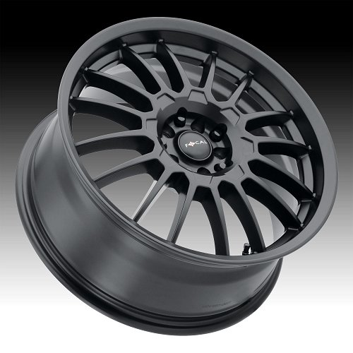 Focal 456SB F-56 Satin Black Custom Wheels Rims 2