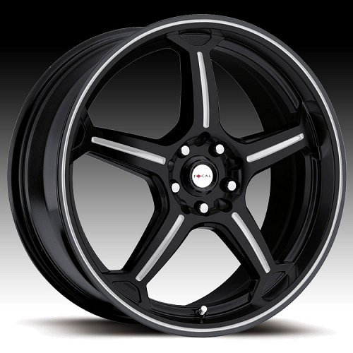 Focal F01 F-01 172 Gloss Black with Silver Accents Custom Rims Wheels 1