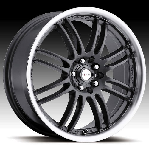 Focal F16 F-16 163 Gunmetal w/ Diamond Machined Lip Custom Rims Wheels 1