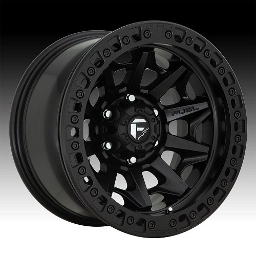 Fuel Covert Beadlock D114 Satin Black Custom Wheels Rims 1
