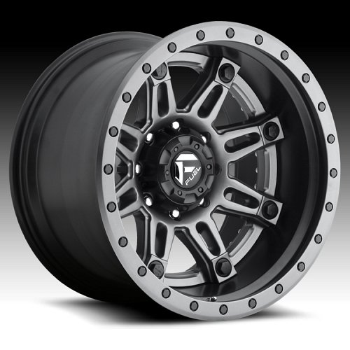 Fuel D232 Hostage II 2-PC Anthracite Matte Black Custom Truck Wheels Rims 1