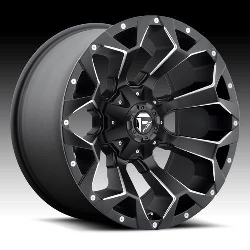 Fuel Assault D546 Black Milled Truck Wheels Rims 1
