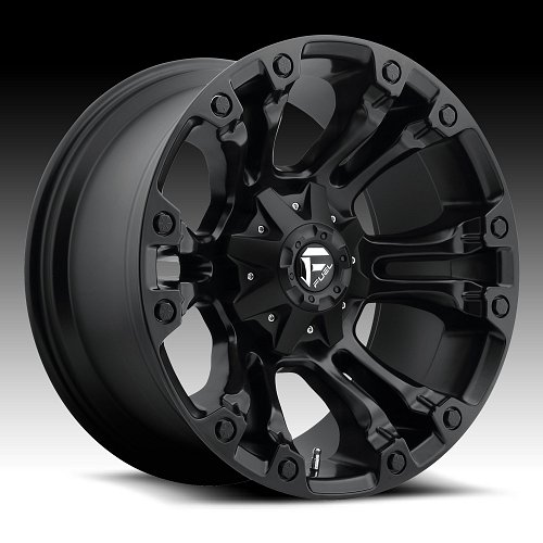 Fuel Vapor D560 Matte Black Custom Truck Wheels Rims 1
