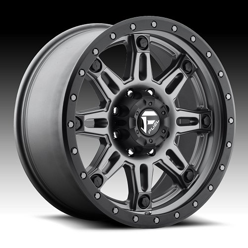 Fuel Hostage III D568 Matte Anthracite Custom Truck Wheels Rims 1