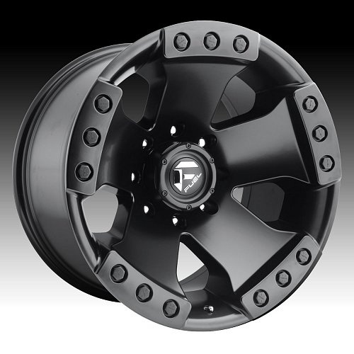 Fuel Monsta D577 Matte Black Custom Truck Wheels Rims 1