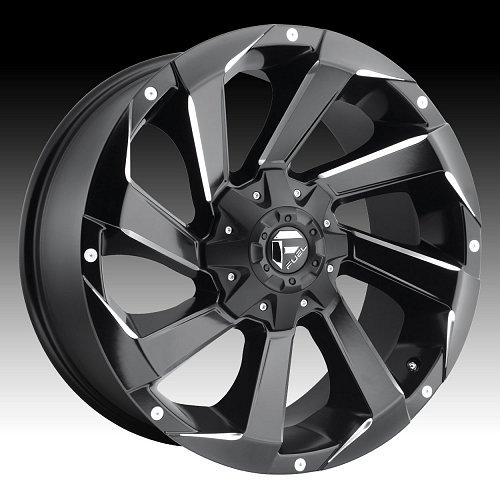 Fuel Razor D592 Matte Black Milled Custom Truck Wheels Rims 1
