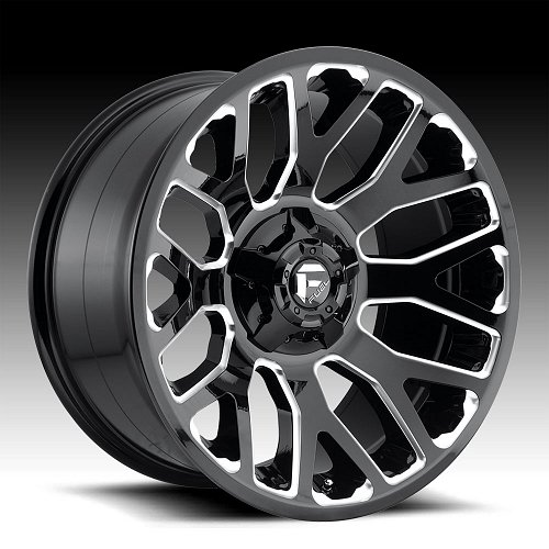 Fuel Warrior D607 Gloss Black Milled Custom Wheels Rims 1