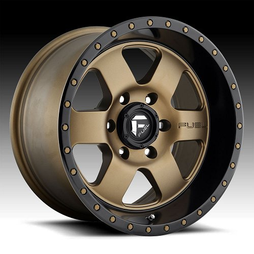 Fuel Podium D617 Bronze Black Custom Wheels Rims 1