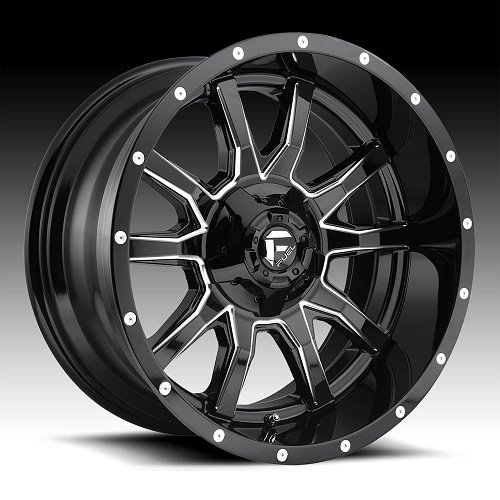 Fuel Vandal D627 Gloss Black Milled Custom Wheels Rims 1