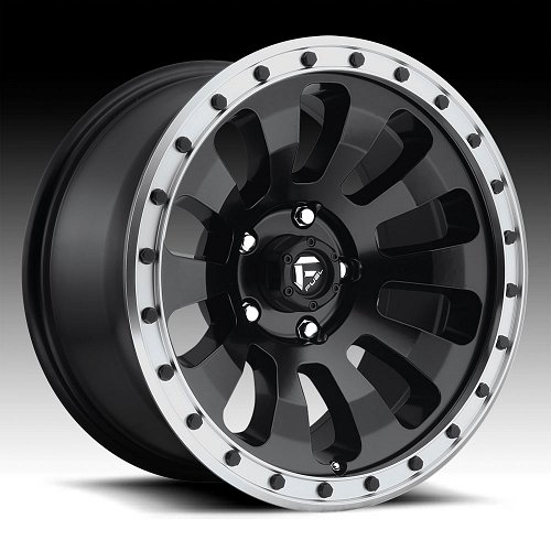 Fuel Tactic D629 Matte Black Machined Custom Wheels Rims 1