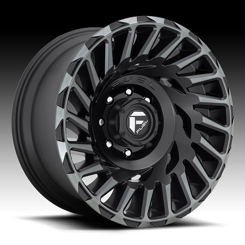 Fuel Cyclone D683 Matte Black Machined DT Custom Wheels Rims 1
