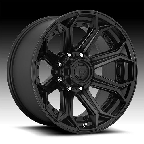 Fuel Siege D706 Satin Black Custom Wheels Rims 1
