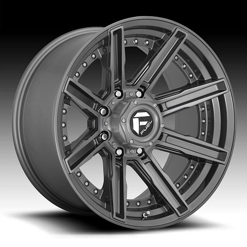 Fuel Rogue D710 Platinum Custom Wheels Rims 1