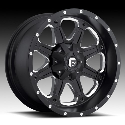 Fuel Boost D534 Matte Black Milled Truck Wheels Rims 1