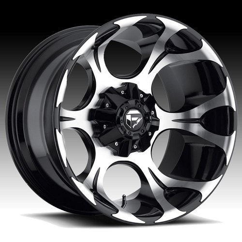 Fuel Dune D524 Machined Gloss Black Truck Wheels Rims 1