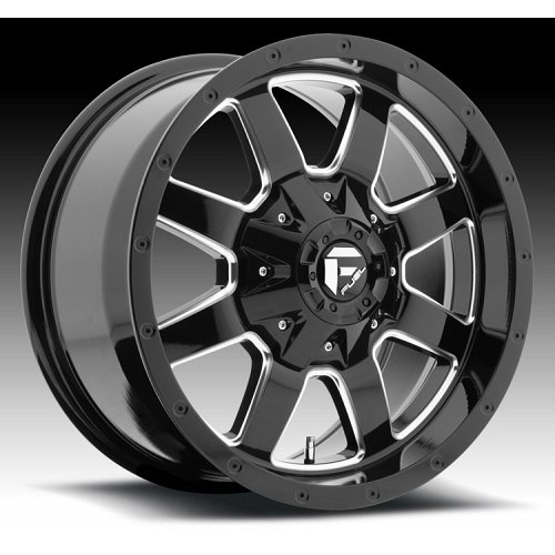 Fuel Frontier D535 Gloss Black Milled Truck Wheels Rims 1