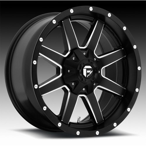 Fuel Maverick 1-PC D538 Matte Black Milled Truck Wheels Rims 1