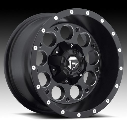 Fuel Revolver D525 Matte Black Milled Truck Wheels Rims 1