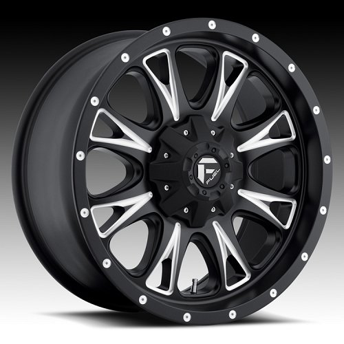 Fuel Throttle D513 Matte Black Milled Truck Wheels Rims 1