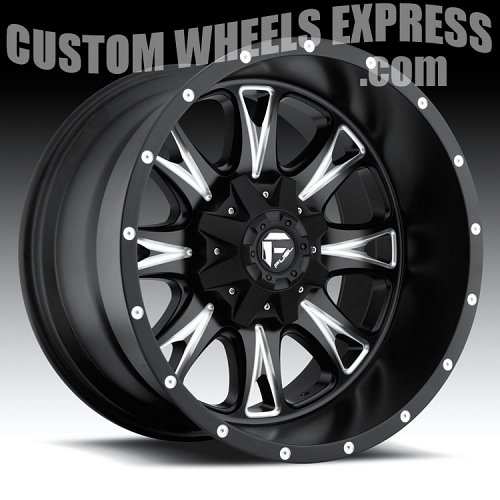 Fuel Throttle D513 Matte Black Milled Truck Wheels Rims 2