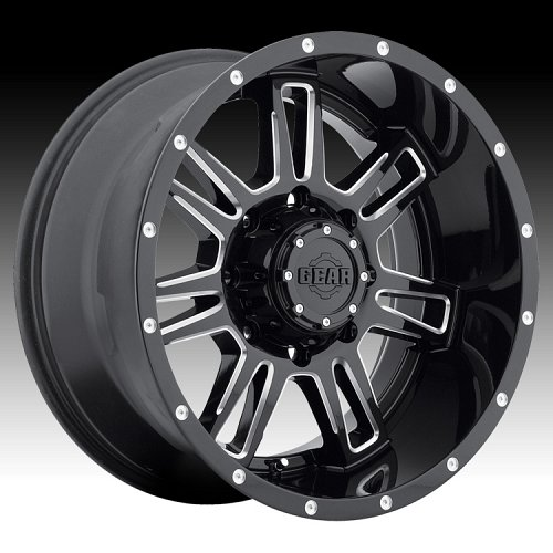 Gear Alloy 737BM Challenger Black Milled Custom Wheels Rims 1