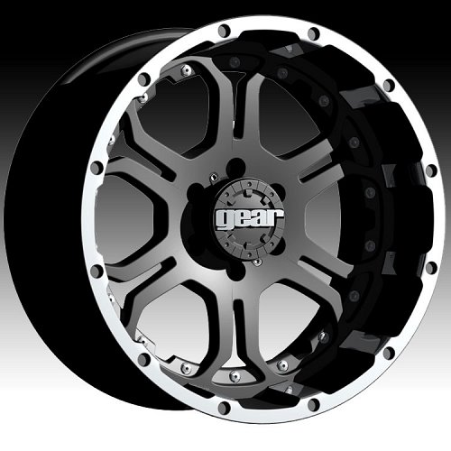 Gear Alloy 715MB 715 Recoil Black Custom Rims Wheels 1