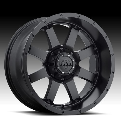 Gear Alloy 726B Big Block Satin Black Custom Wheels Rims 1