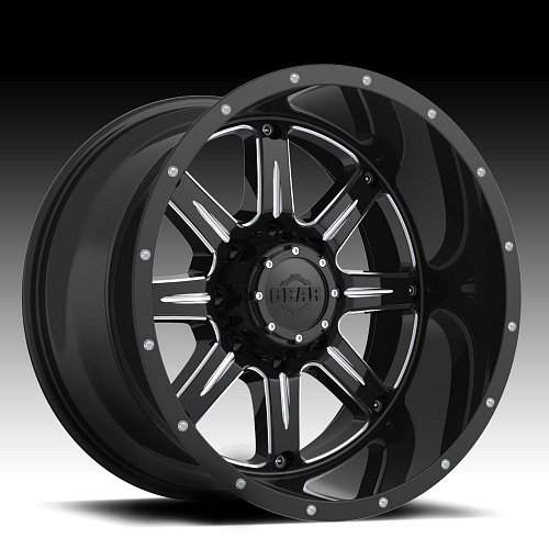 Gear Alloy 726BM Big Block Gloss Black Milled Custom Wheels Rims 1