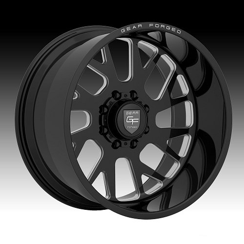 Gear Forged F71BM1 1pc Black Milled Custom Wheels Rims 1