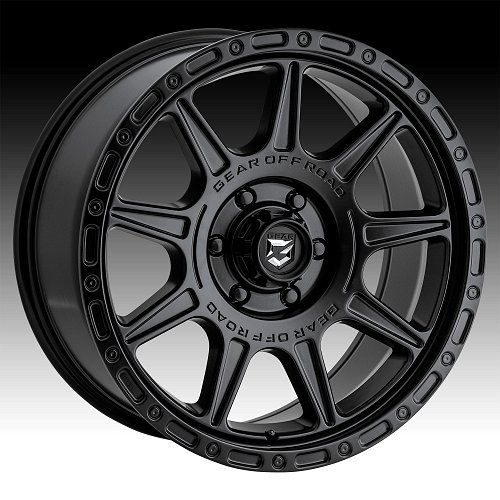 Gear Offroad 759SB Sector T Satin Black Custom Wheels Rims 1