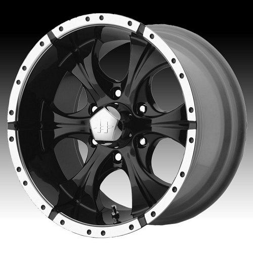 Helo HE791 791 Maxx Gloss Black w/ Machined Accents Custom Rims Wheels 1