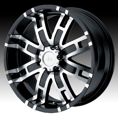 Helo HE835 835 Gloss Black w/ Machined Face Custom Rims Wheels 1