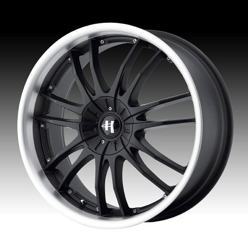 Helo HE845 845 Gloss Black w/ Machined Lip Custom Rims Wheels 1
