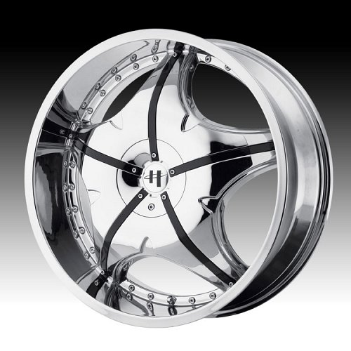 Helo HE846 846 Chrome w/ Black Inserts Custom Rims Wheels 1