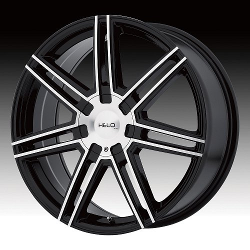 Helo HE884 Gloss Black Machined Face Custom Rims Wheels 1
