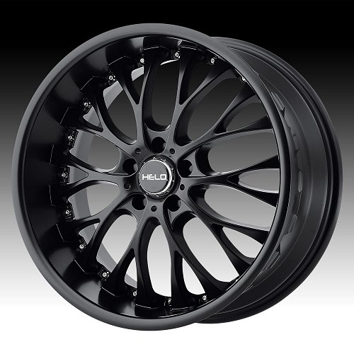 Helo HE890 Satin Black Custom Wheels Rims 1