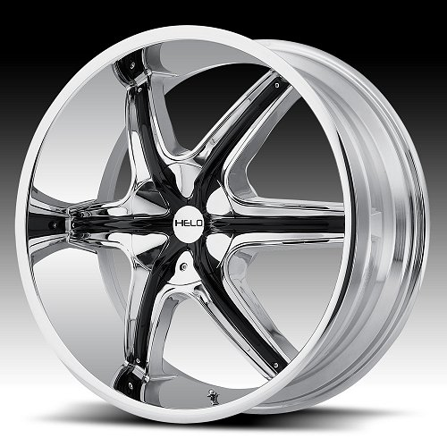 Helo HE891 Chrome with Black Inserts Custom Wheels Rims 1