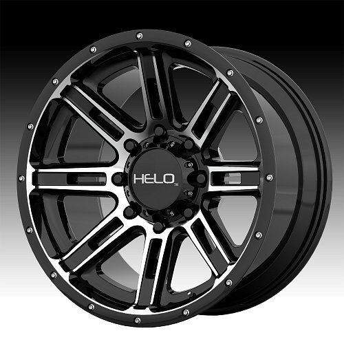 Helo HE900 Machined Black Custom Wheels Rims 1