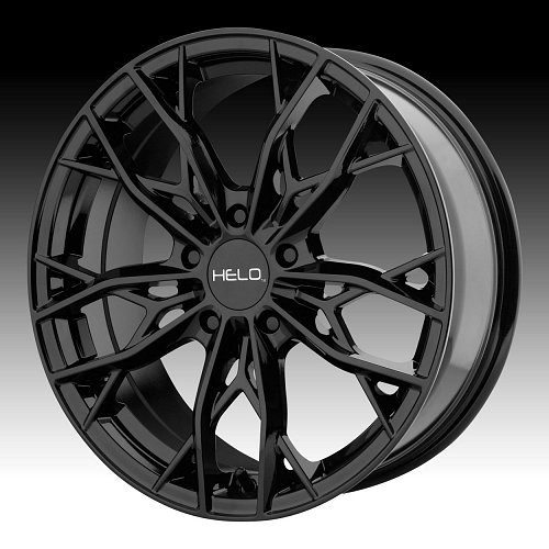 Helo HE907 Gloss Black Custom Wheels Rims 1